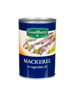 GOODBURRY MACKEREL IN OIL - 425GR
