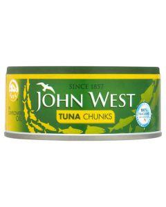 JOHN WEST TUNA CHUNKS IN OIL - 160GR
