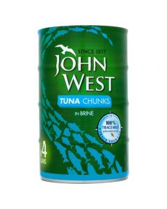 JOHN WEST TUNA CHUNKS IN BRINE - 160GR