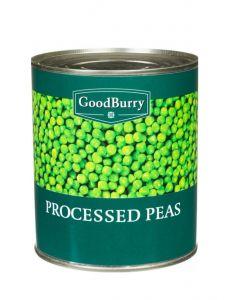 GOODBURRY FINE GREEN PEAS - 800GR