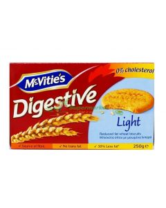 MCVITIES DIGESTIVE LIGHT BISCUITS - 250GR