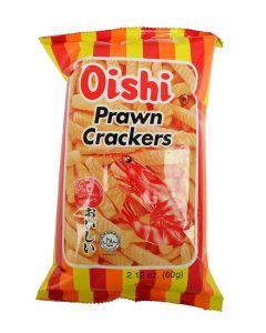 OISHI SPICY FLAVOR PRAWN CRACKERS - 60GR