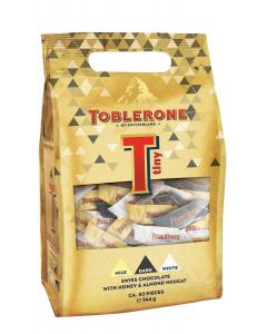 TOBLERONE MIXED TINY CHOCOLATE BARS - 272GR