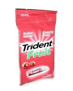 TRIDENT FRUIT STRAWBERRY 5 PACK - 40 UNITS