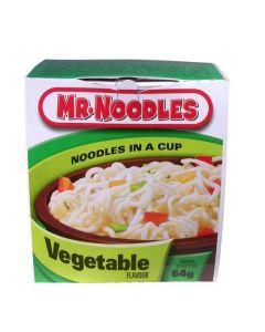 MR NOODLES INSTANT VEGETABLE NOODLES CUP - 64GR
