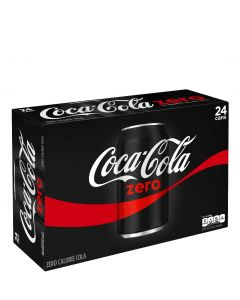 COCA COLA ZERO IN CANS - 24X33CL
