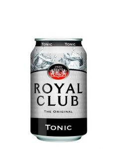 ROYAL CLUB TONIC WATER IN CANS - 24X33CL