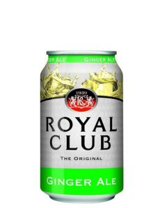 ROYAL CLUB GINGER ALE IN CANS - 24X33CL