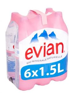EVIAN SPRING WATER - 6X1.5LT