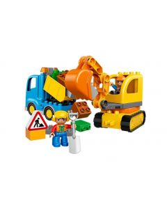 LEGO TRUCK AND TRACKED EXCAVTOR