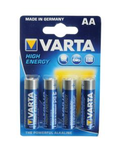 VARTA 4XAA LR6 MN1500 1.5V ALKLINE BATTERIES