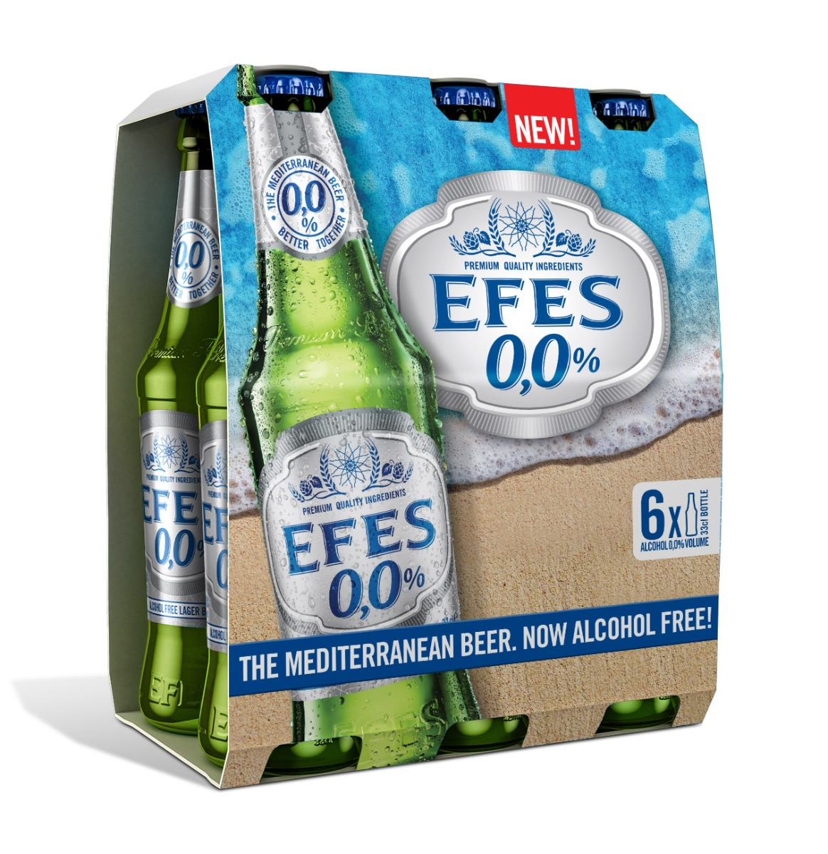 EFES NON ALCOHOL BEER IN BOTTLES [24X33CL]  @1CASE
