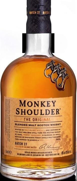 MONKEY SHOULDER BLENDED MALT SCOTCH WHISKY - 100CL