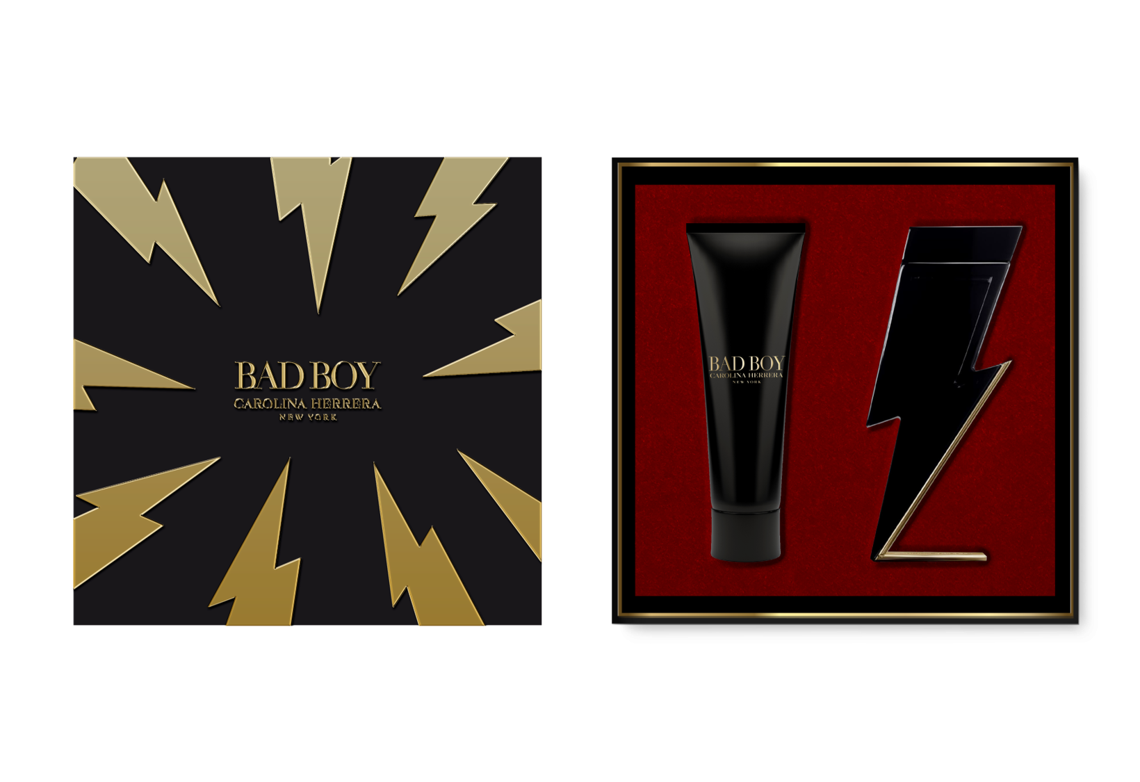 HERRERA BAD BOY  E.D.T 100 ML +SHOWER GEL  100 ML HD20 REF. 979990@SET